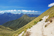 Trekking Kepler Track - tramping track in New Zealand.