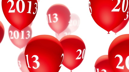 Balloons 2013 Red on White (Loop)