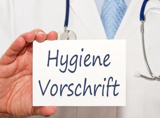 Hygiene Vorschrift