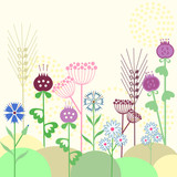cute flowers background