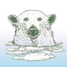 Riesen-Eisbär in der Arktis