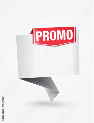 étiquette promo