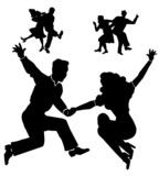 Fototapeta jazz - taniec - Retro