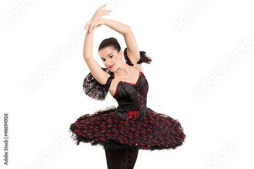 A ballerina dancer making a ballet posing