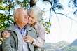 Beautiful senior couple in the park - 46695138