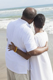 Senior African American Couple on Beach