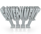 Government Word Marble Columns Establishment Power