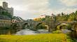 Romantisches Runkel mit Lahnbrücke und Burg