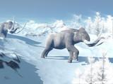 Mammoths walk in the wind