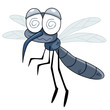 illustration of Cartoon Mosquito