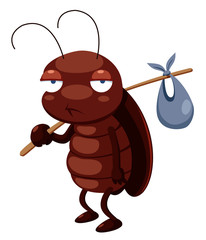illustration of cockroach cartoon