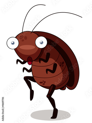 illustration of cockroach cartoon get out