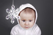 baby with snow flake