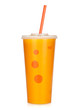 Fast food drink with straw