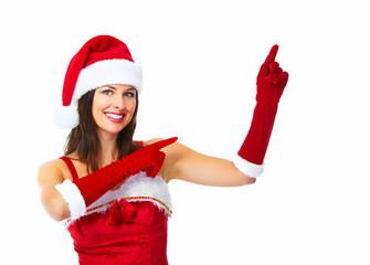 Santa helper Christmas girl.