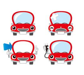 赤い車のキャラクター