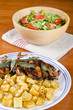 Barbecued Quails and Arugula Salad