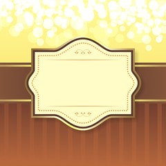 Brown Bokeh Frame Vector