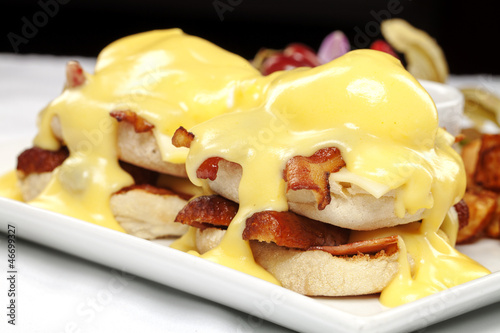 Double stacked eggs benedict