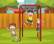 kids and monkey bar