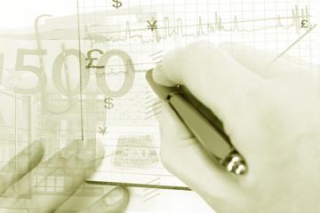 Finance system concept