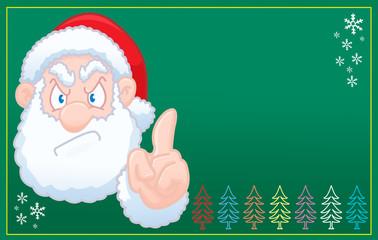 Santa Claus says no christmas green card