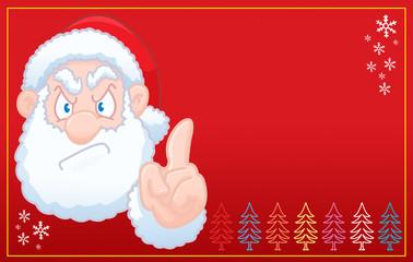 Santa Claus says no christmas red card