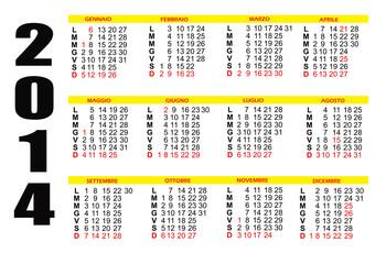 Calendario 2014 semplice