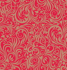 Seamless festive floral background