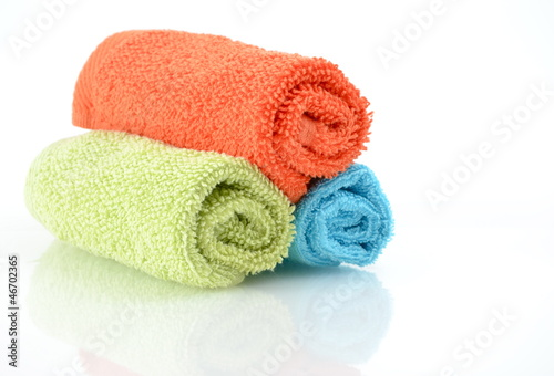Colourful towels