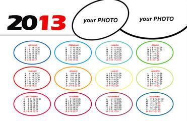Calendario 2013 colori