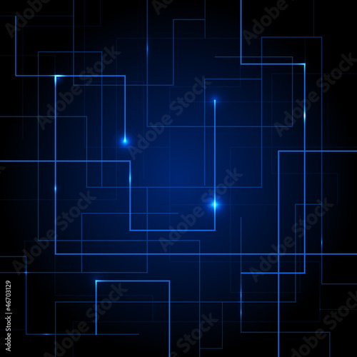 Vector Circuit Board abstract background