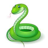 Fototapety Green snake