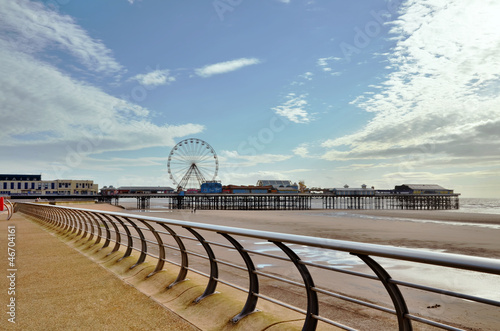 Blackpool promenade with the pier.