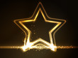Golden glowing star frame