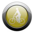 "Yellow Metallic Orb Button ""Bicycler"""