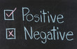Chalk drawing - Positive or negative
