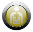 "Yellow Metallic Orb Button ""Internal Medicine"""