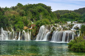 Krka river waterfalls, Krka National Park, Roski Slap, Croatia