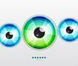 Abstract techno eye. Vector illustration