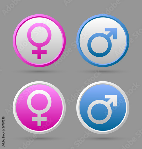 Venus and Mars female and male symbols