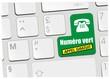 clavier numéro vert