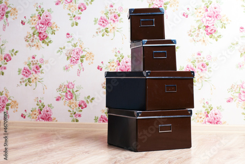stacked office storage boxes © dmitry_zubarev