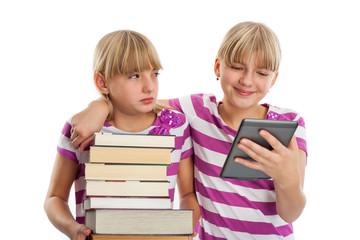 Books vs ebook reader