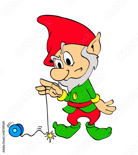 Christmas Elf With Yo-Yo