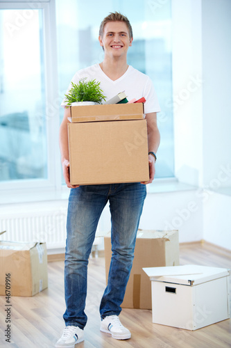 Guy with boxes