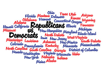 WEB ART DESIGN tag cloud US presidential election USA  2012  010