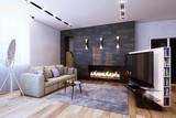 design of interior in minimalist style