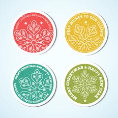 Christmas labels. Set of badges for Xmas design