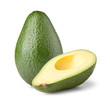 Avocado isolated on white